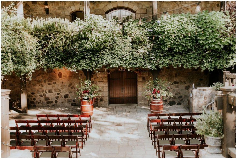 Classy and elegant wedding at V. Sattui winery in Napa