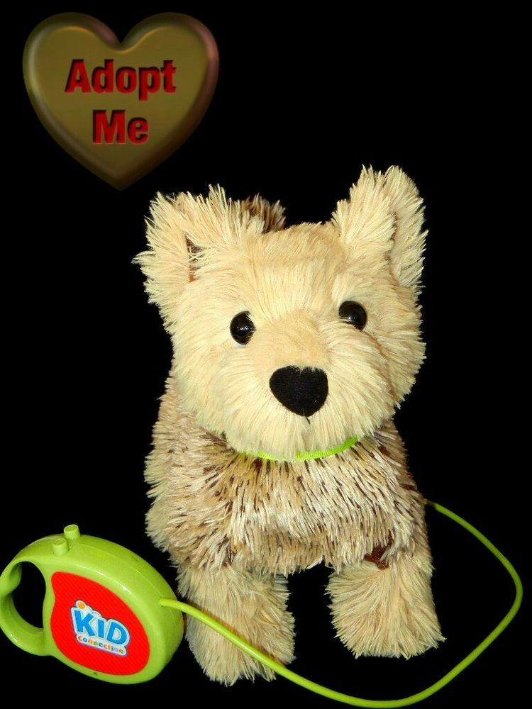 Wal-mart Kid Connection Plush Electronic Barking Walking Terrier Puppy Dog   KidConnection. Find this Pin and more on Vintage Plush Stuffed Animals ... dd0d64a0352a