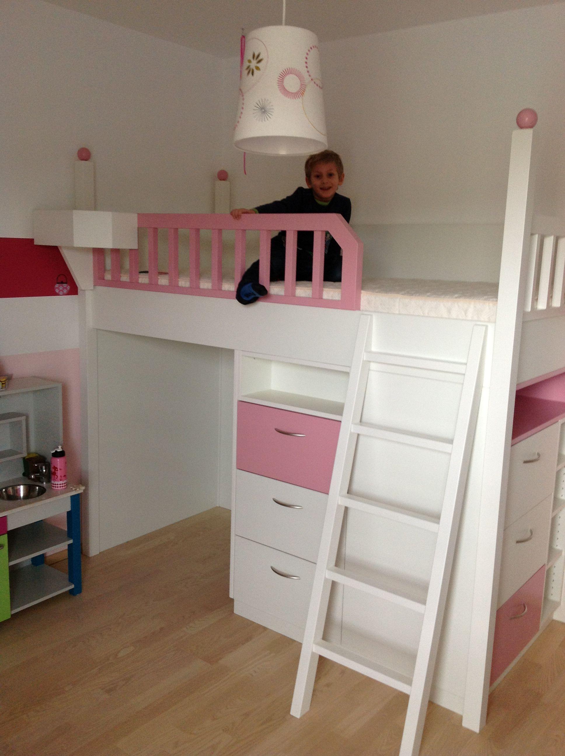 unser hochbett hochbetten f r kinder und jugendliche pinterest hochbett bett und kinderzimmer. Black Bedroom Furniture Sets. Home Design Ideas
