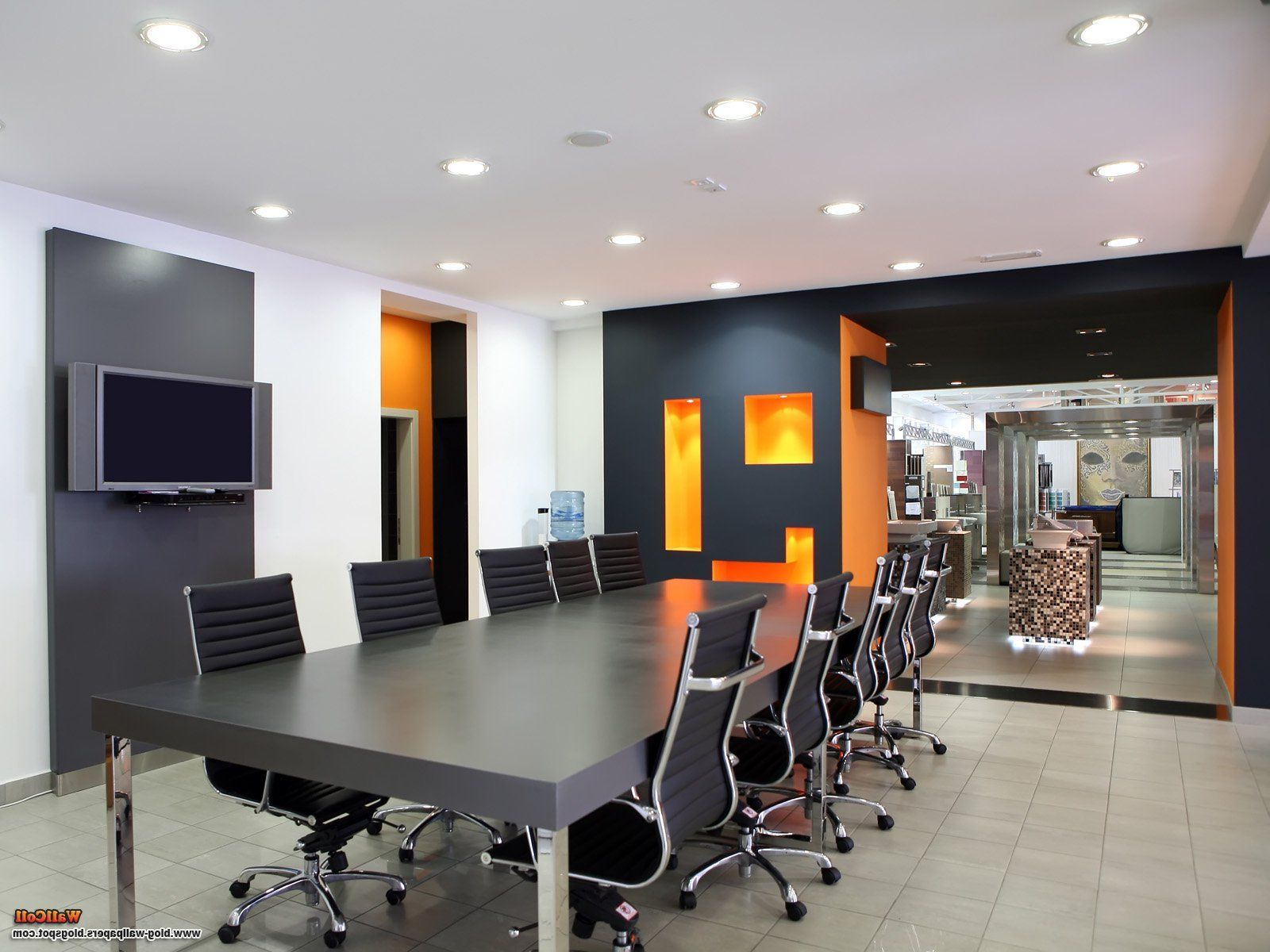 Modern Meeting Room Design And Decoration Decorcraze Com Office Interior Design Home Office Design Office Paint Colors Modern conference room colors