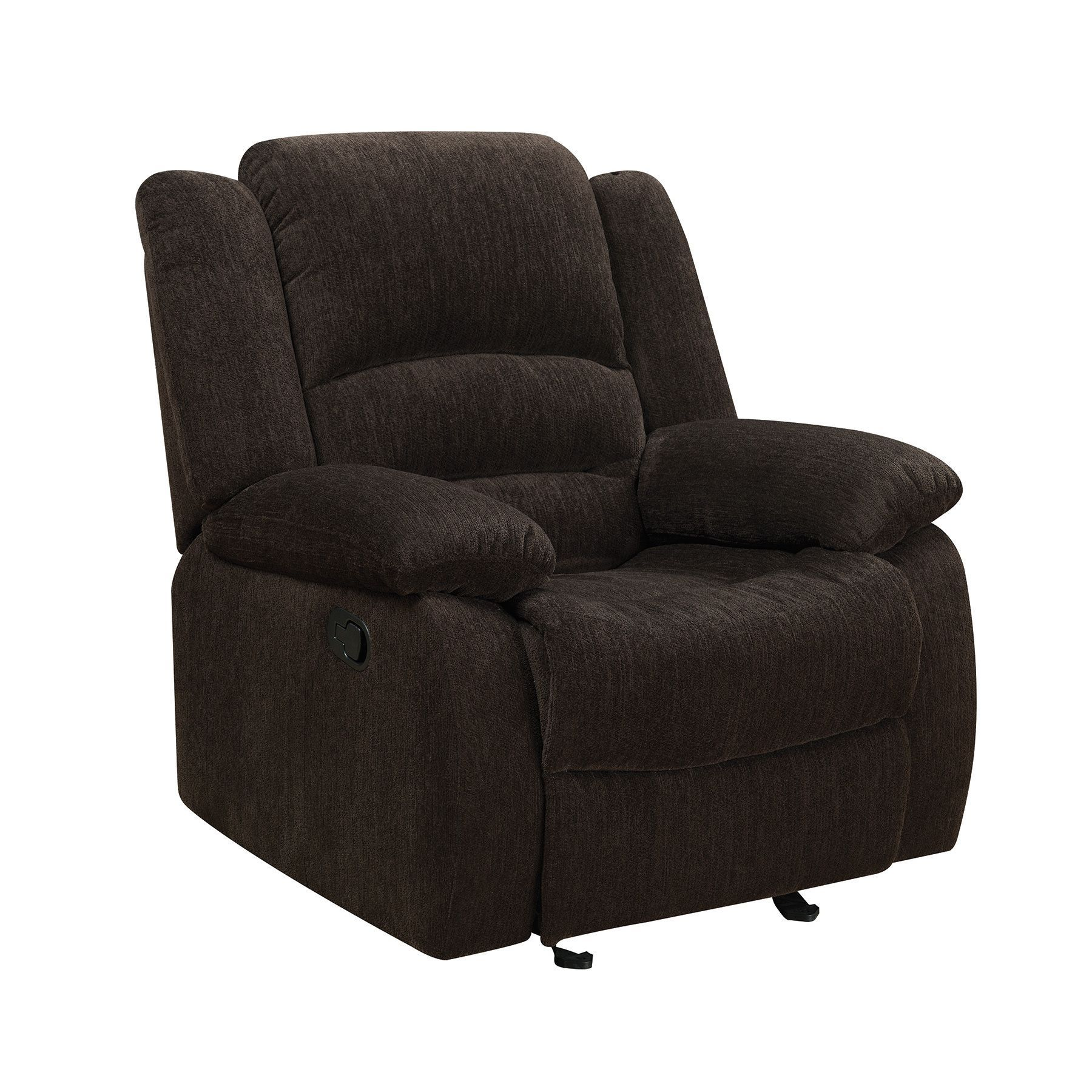coaster company brown fabric glider recliner chair brown