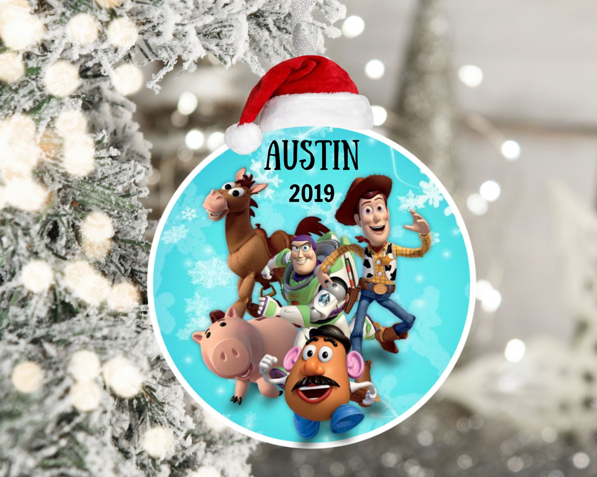 Toy Story Ornament 2019 Personalized Christmas Stocking Stuffer Gift Disney Gift Kids Holiday Gifts Christmas Stockings Personalized Christmas Gifts For Kids