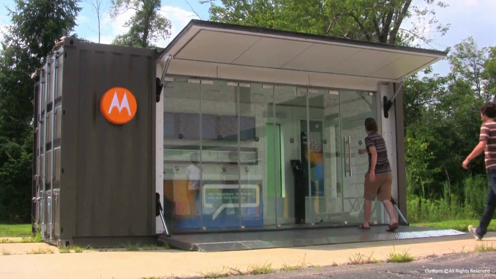 Shipping container homes youtube on pinterest shipping containers - House Motorola Container Shop 20ft Containercontainer Shopshipping Container Storeshipping Containersyoutubevanbedroomstarbuckstoilets