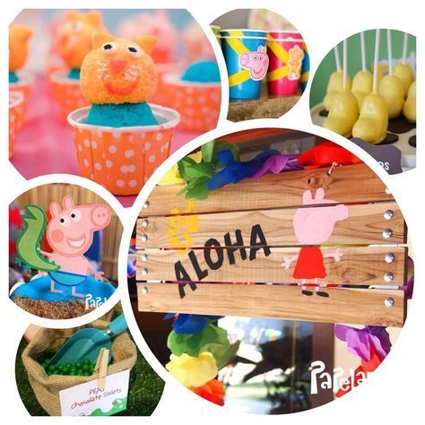 PEPPA PIG IN THE SUMMER, POOL PARTY, BEACH PARTY OR PICNIC, PEPPA EN