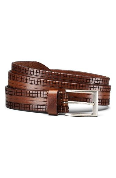 Men s allen edmonds bryant avenue leather belt size curele din