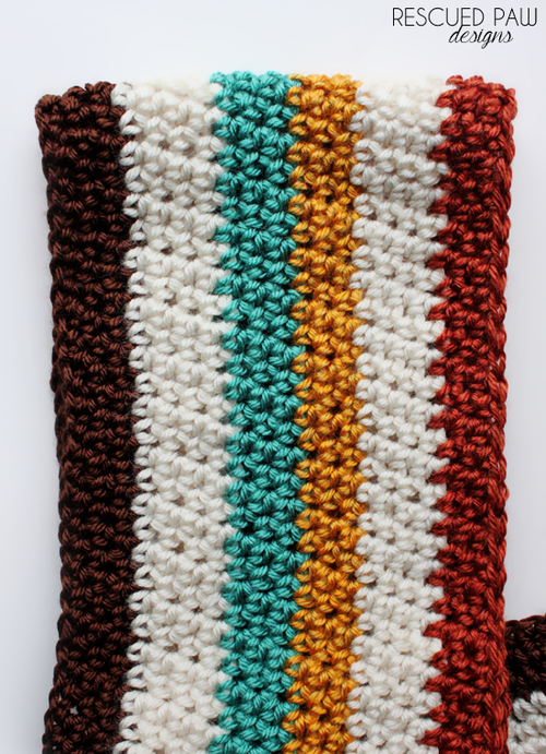 Crochet Multi-Colored Striped Scarf Pattern | Scarf patterns ...