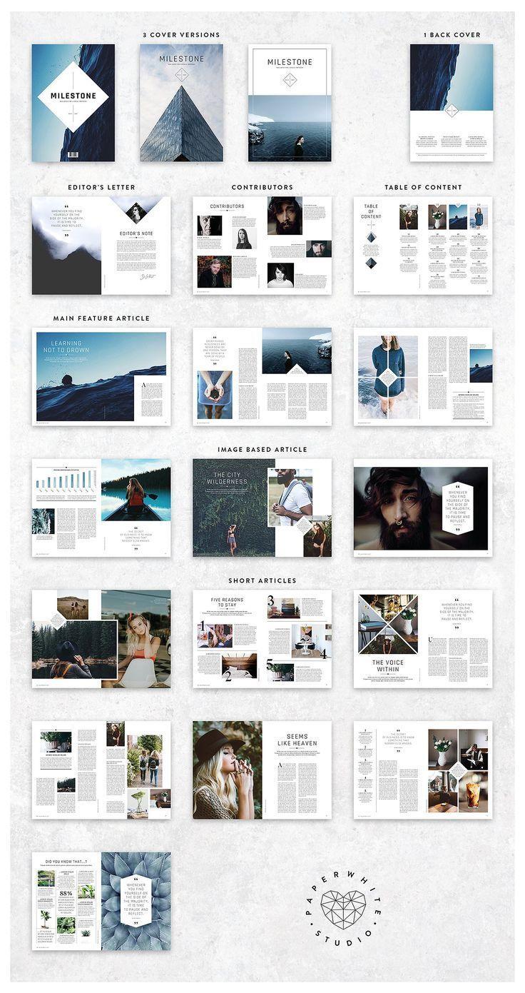 MILESTONE Magazine von Paperwhite Studio auf Creativ ... - #Creativ #layout #Magazi ... - New Ideas #graphicdesign