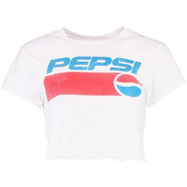 7ce86ef2dace8 Lottie Pepsi Oversized Crop Tee ( 29) ❤ liked on Polyvore featuring tops