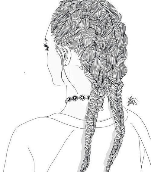 Pin By Abby Gregory On Tumblr Sketch Girls Pinterest Outlines - Hairstyle drawing tumblr