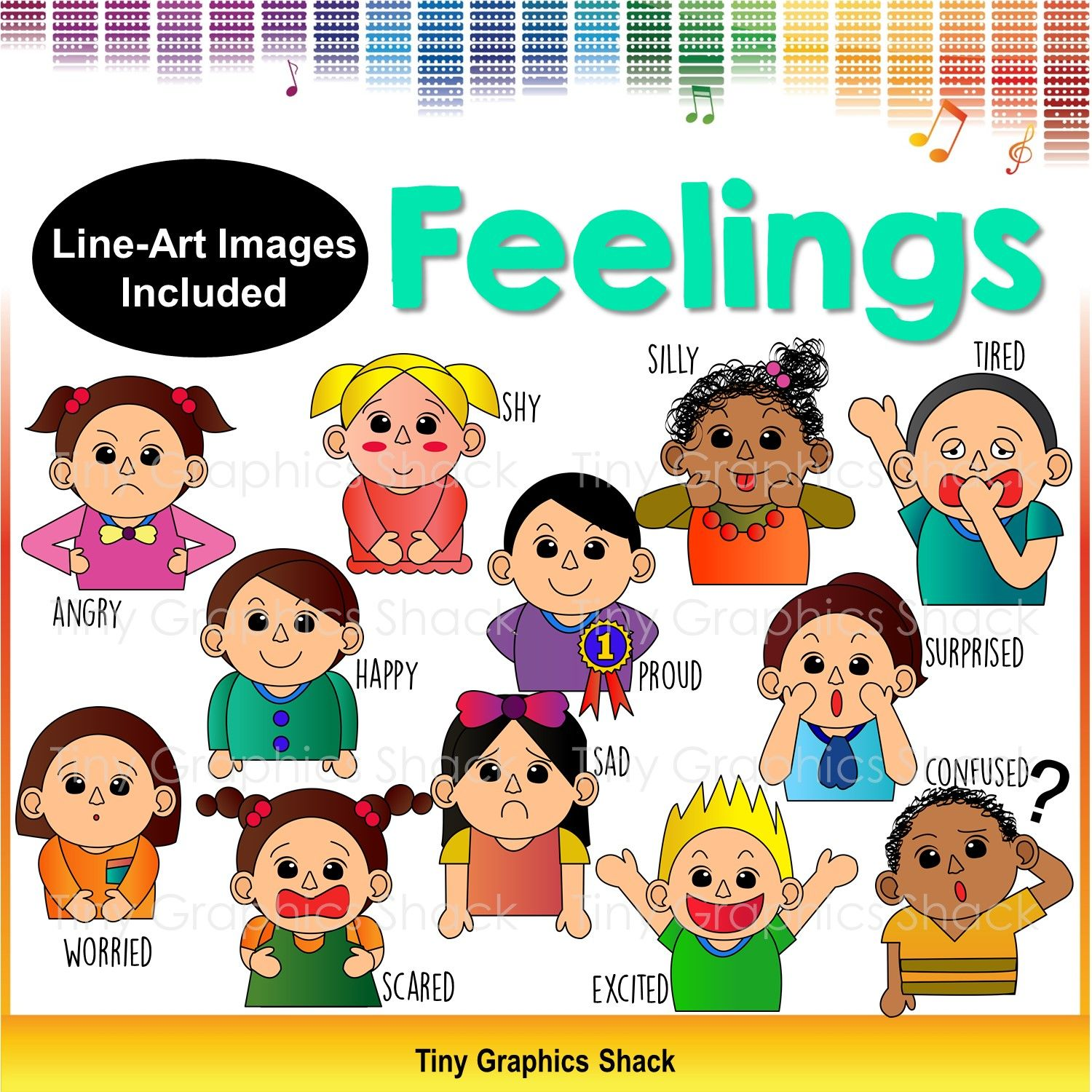 Feelings And Emotions Clip Art