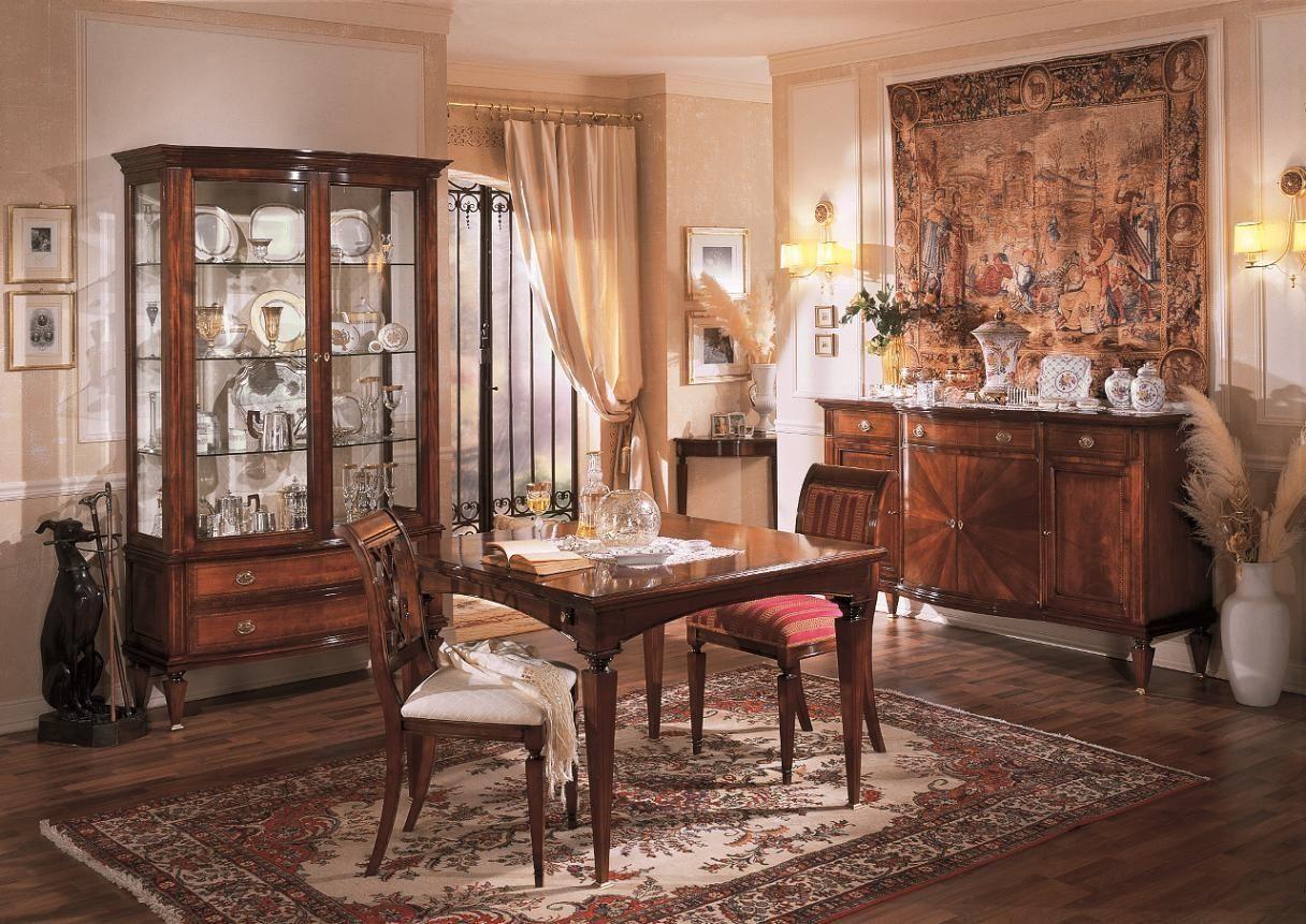 Credenza Con Cristalliera : Sala da pranzo cristalliera tavolo sedie e credenza mobili within