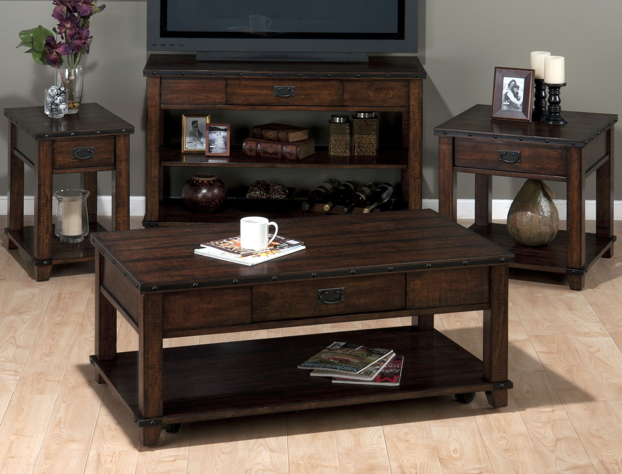 Jofran Cassidy Coffee Table Set Coffee Table 4 Piece Coffee Table Set Coffee Table Setting