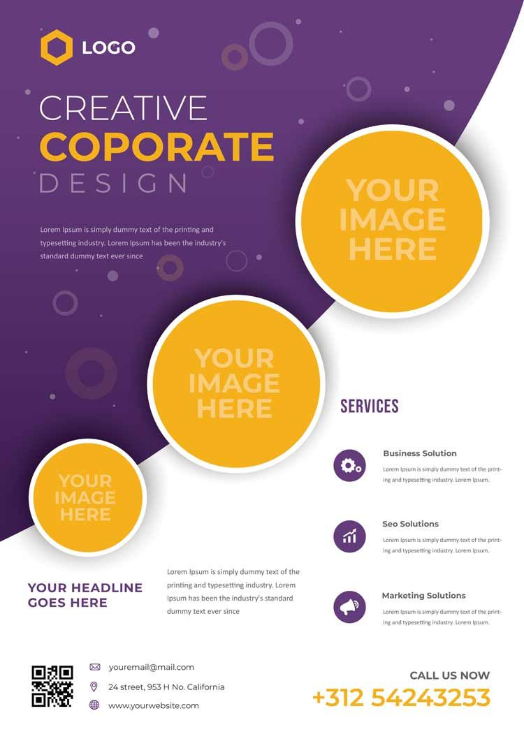 تحميل Brochure Template مجانا Free Brochure Template Business Solutions Brochure Template