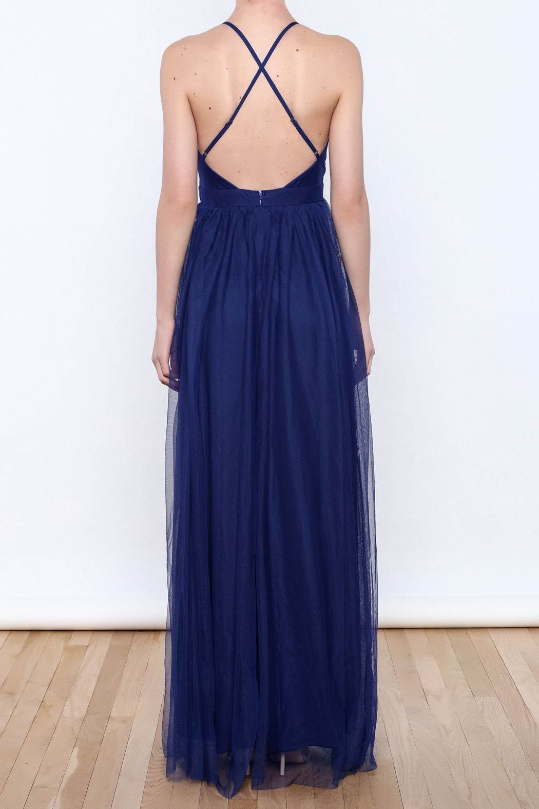 2209c3fba82 luxxel Tulle Maxi Dress - Back Cropped Image