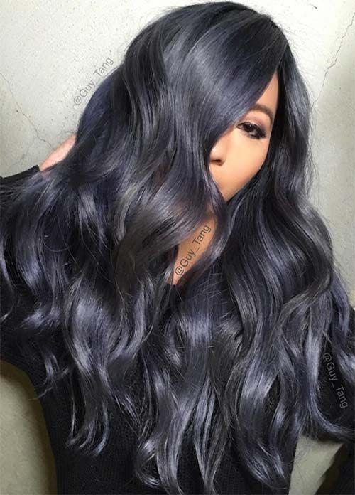 50 Magically Blue Denim Hair Colors You Will Love Denim Hair Hair