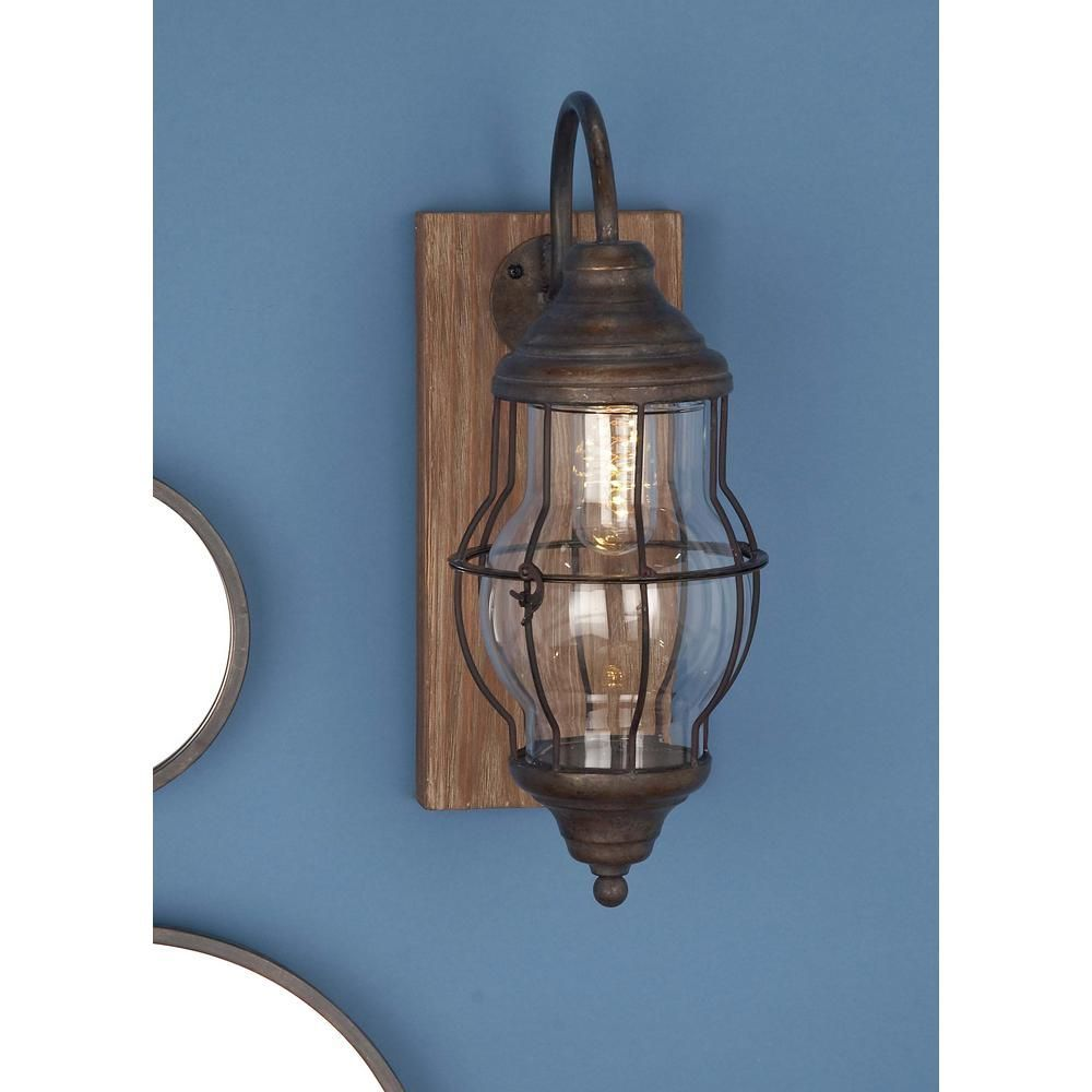 Bronze Wall Sconce With Switch   Wall sconces, Contemporary wall ...