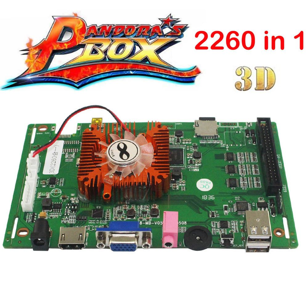 2260 in 1 Pandora's Box 3D Multi PCB Board Arcade Video