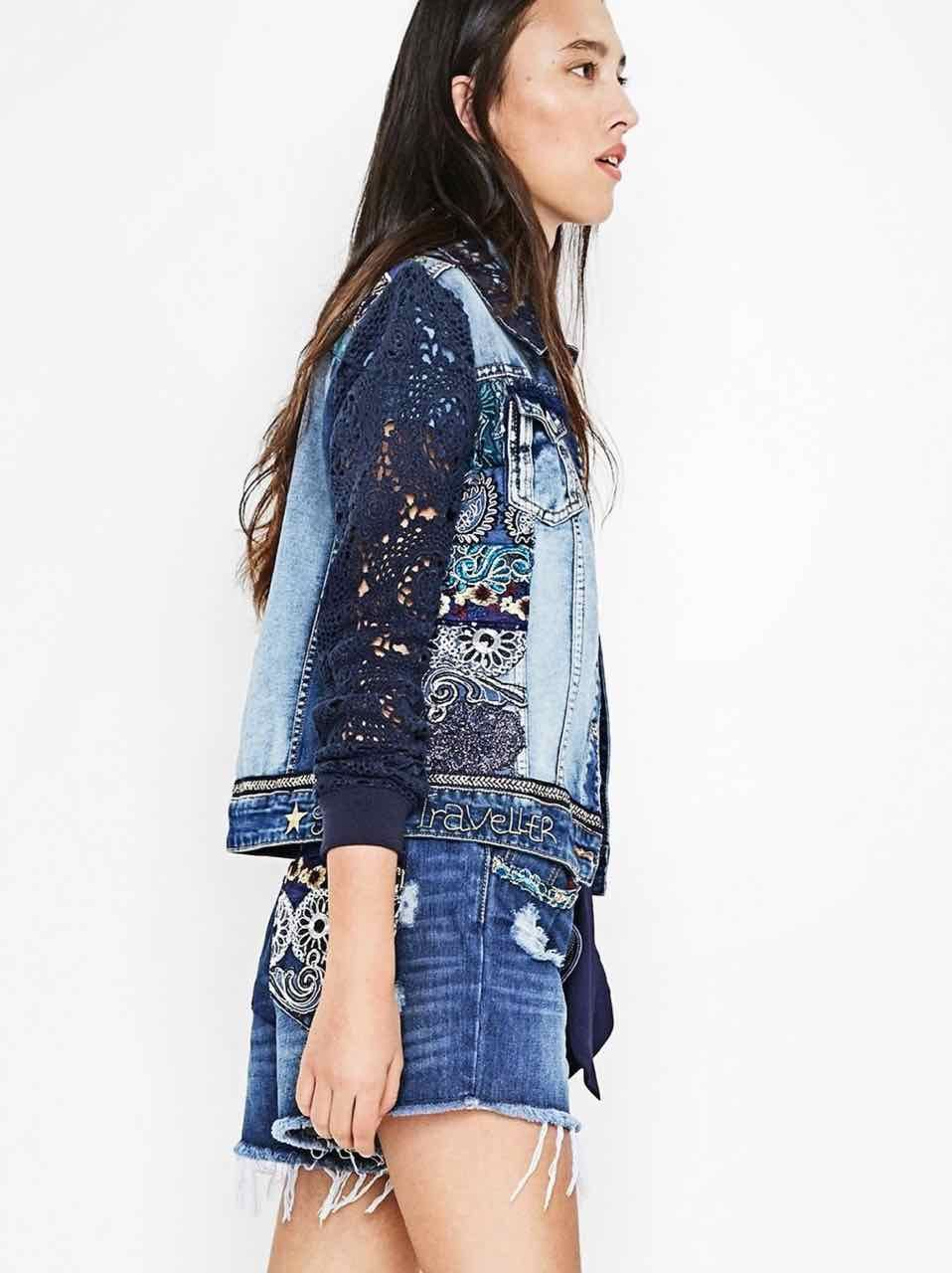 72E2JC7_5053 Desigual Denim Jacket Exotic Blue Buy Online