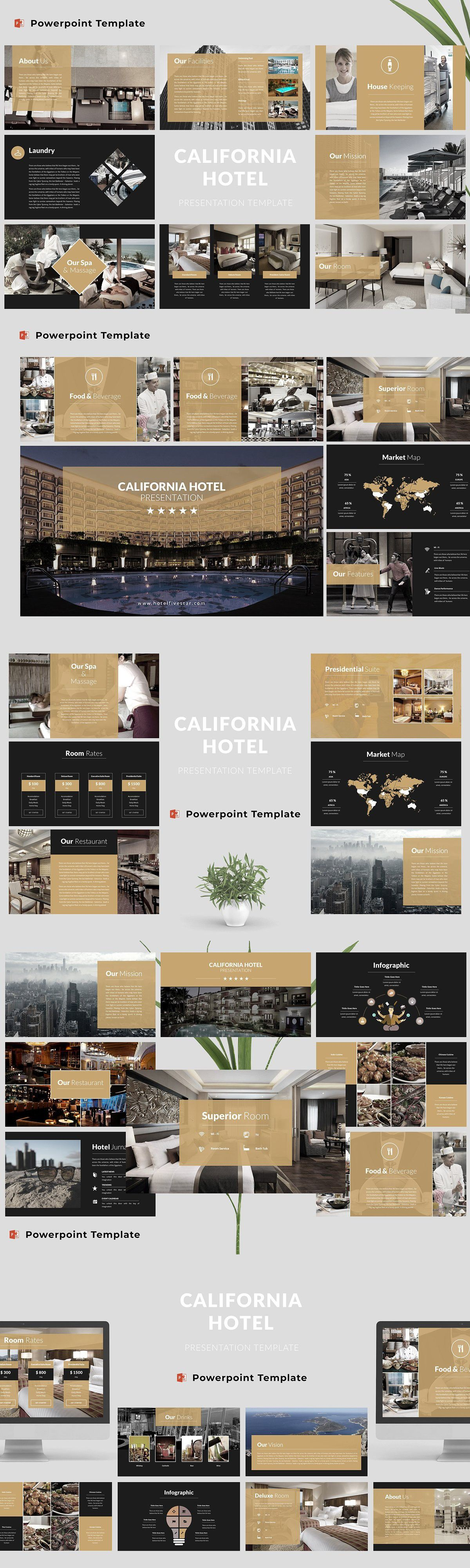 Hotel Powerpoint Template In 2020 Powerpoint Templates Real Estates Design Powerpoint
