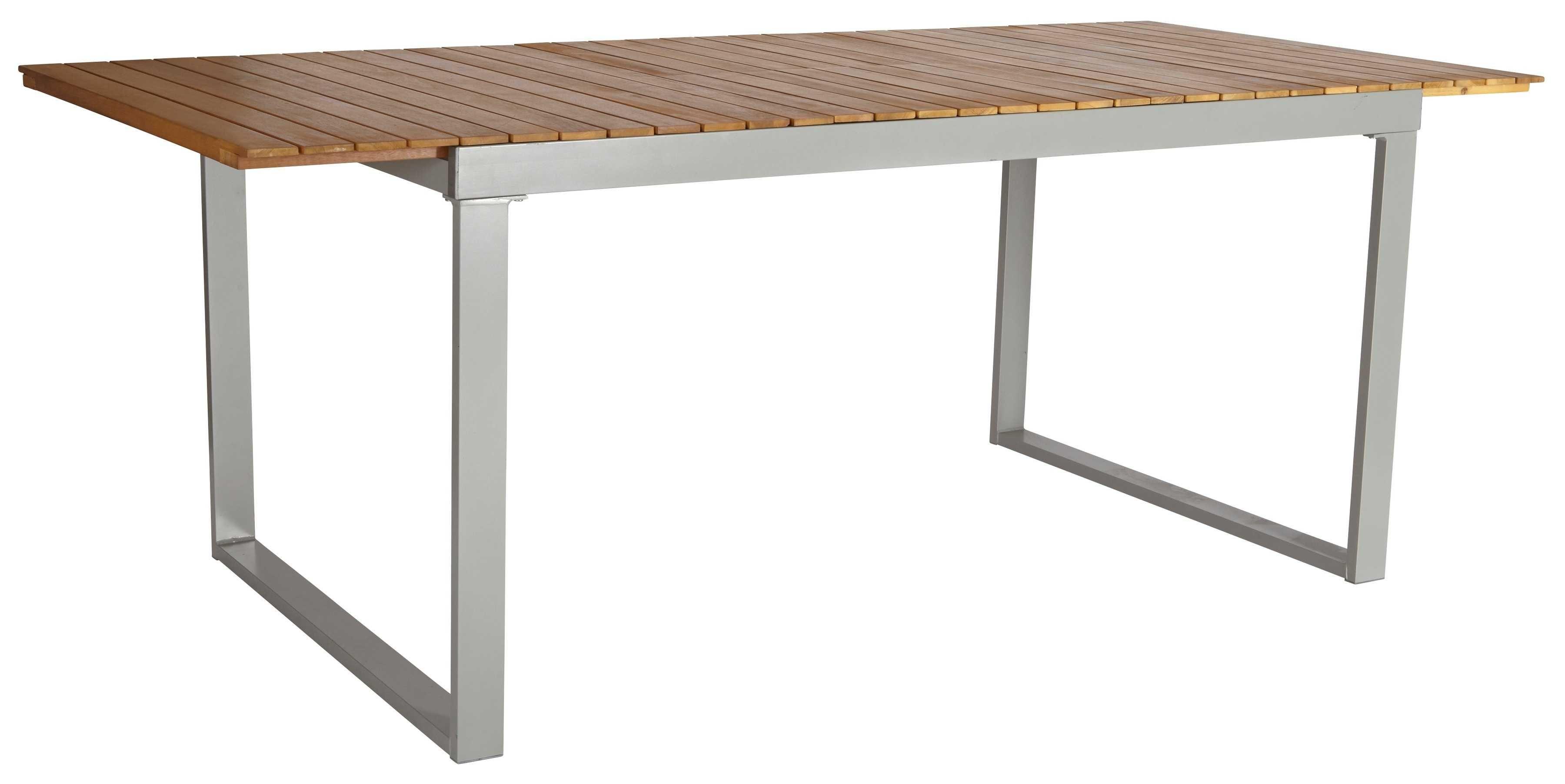 Merxx Gartentisch Monaco Alu Akazienholz Ausziehbar 200x90 Cm Braun Hagebau De Gartentisch Tisch Lange Tafel