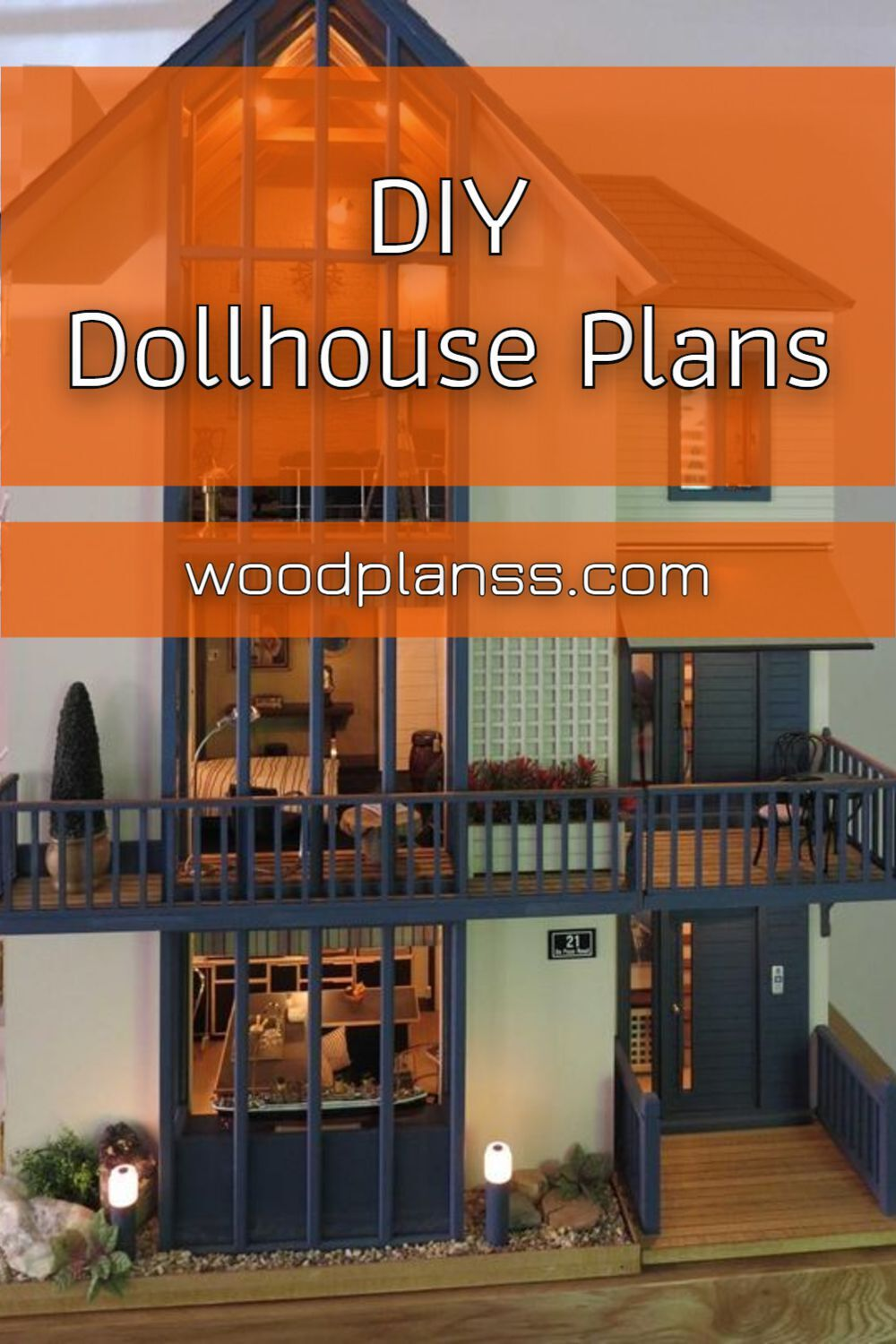 Diy Dollhouse Plans in 2020 | Contemporary woodworking ...