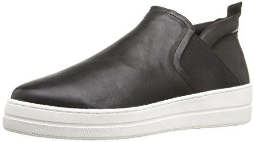 4d0498dfdf7 Steven by Steve Madden womens noval fashion sneaker black leather ...