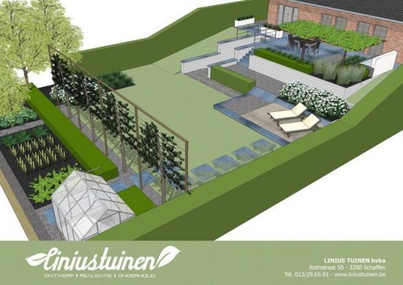 Sun terrace with raised aluminum pond and waterfall  #aluminium pond #er   bedroom #gardentypes #garden #types