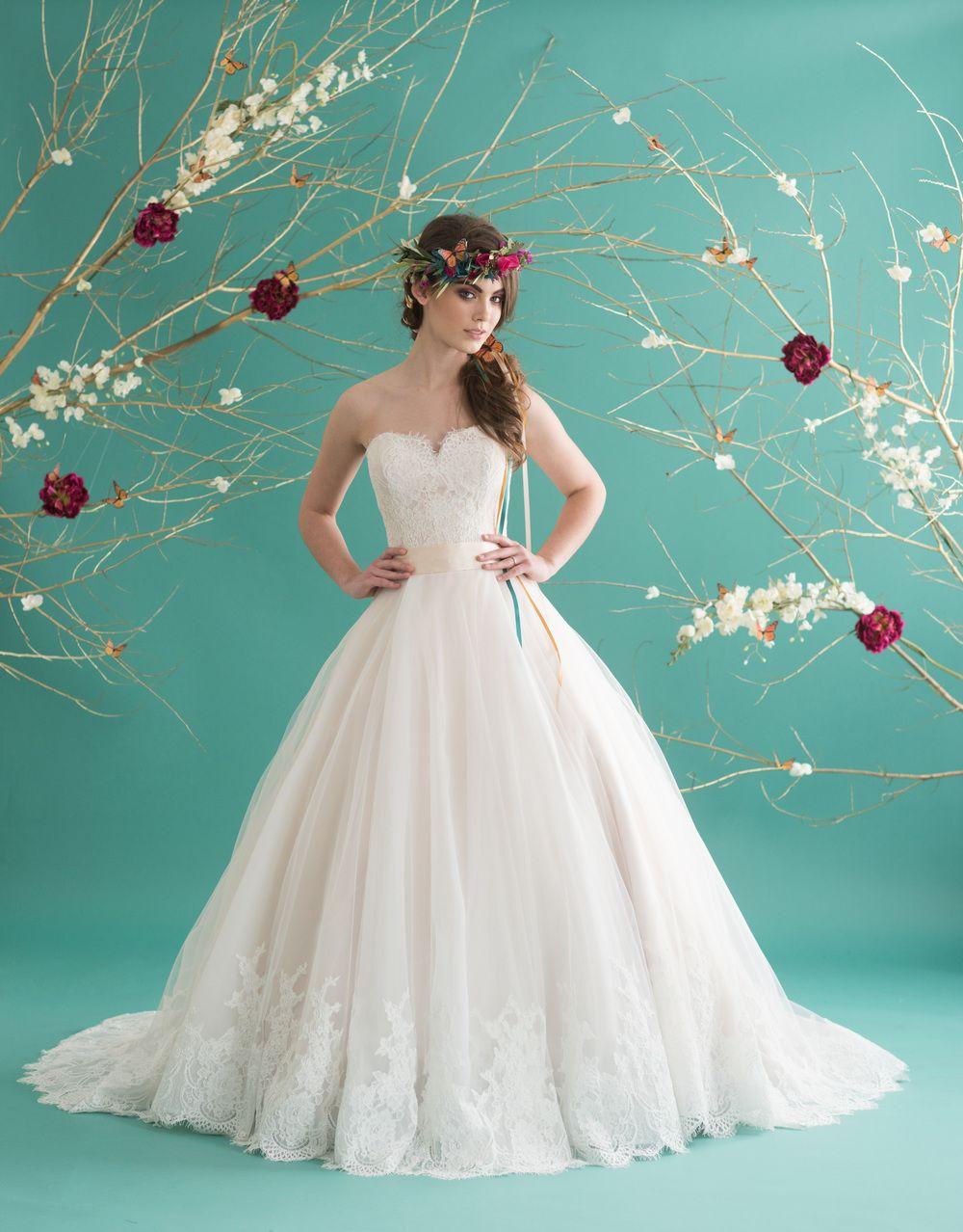 hatley #strapless #sweetheart #Satin #Tulle #ballgown ...