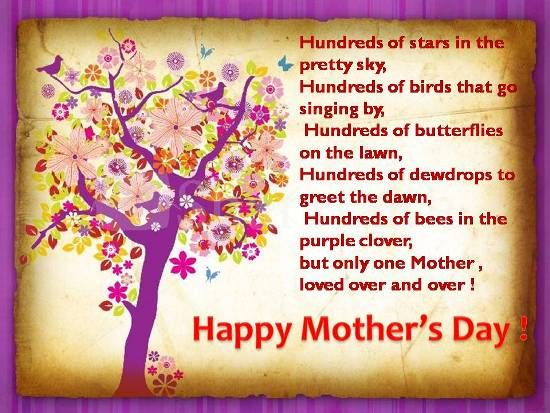 Express your love for your mother and tell her that she is