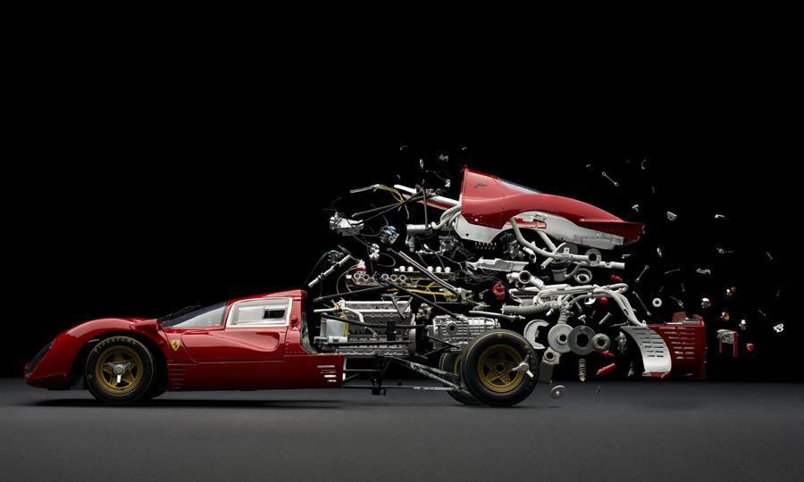 c6a2eb9a55b Exploded view of a Ferrari race by Fabian Oefner