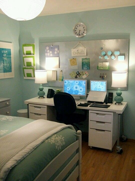 office guest room ideas stuff. Guest Room/ Office Double Lamps On Desk Room Ideas Stuff E