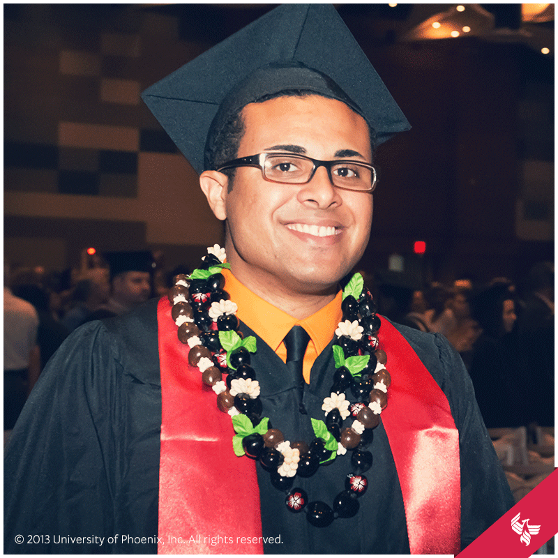 This grad knows how to add a little personal style to his regalia ...