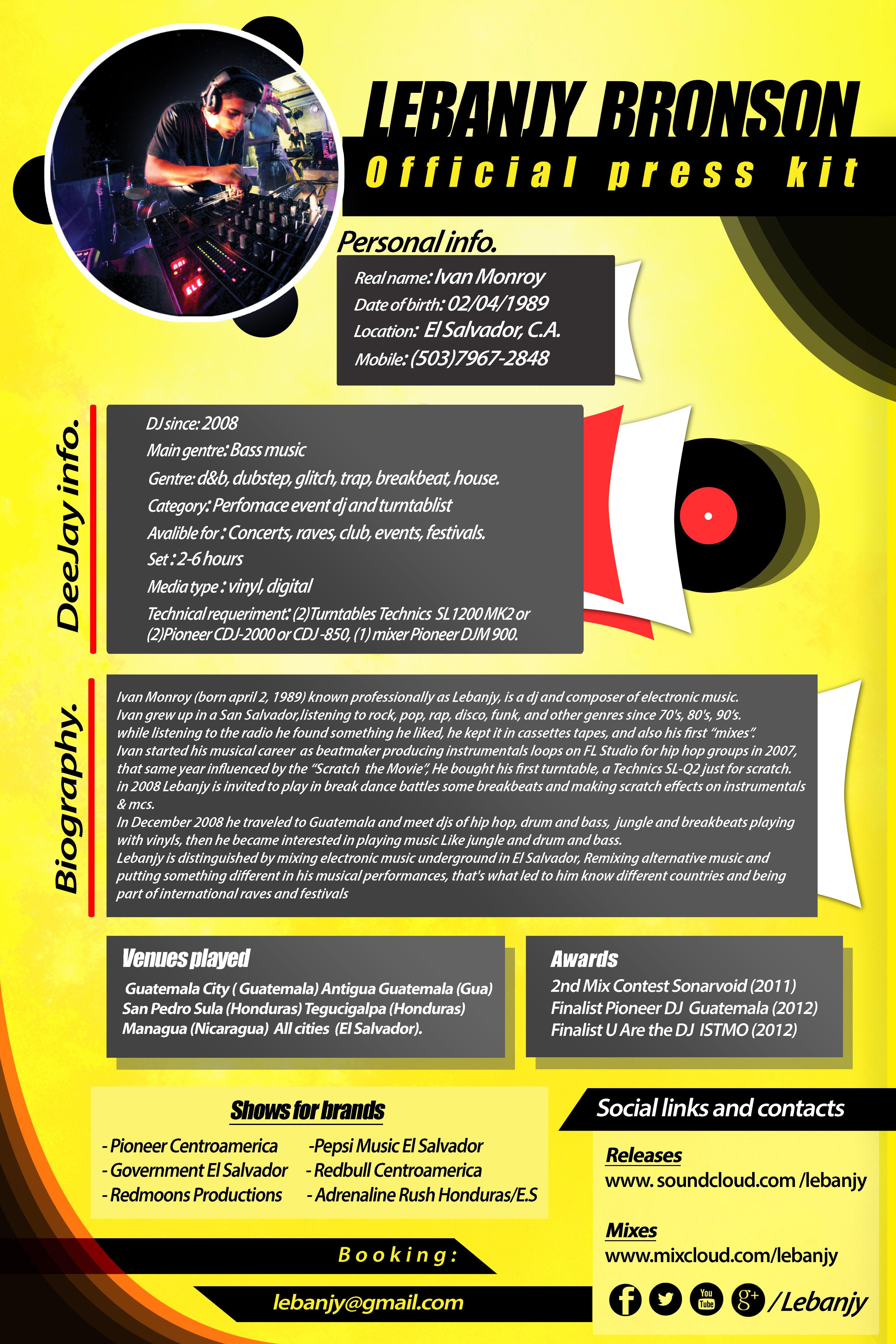 Lebanjy press kit dj 2015 press kit press kit template