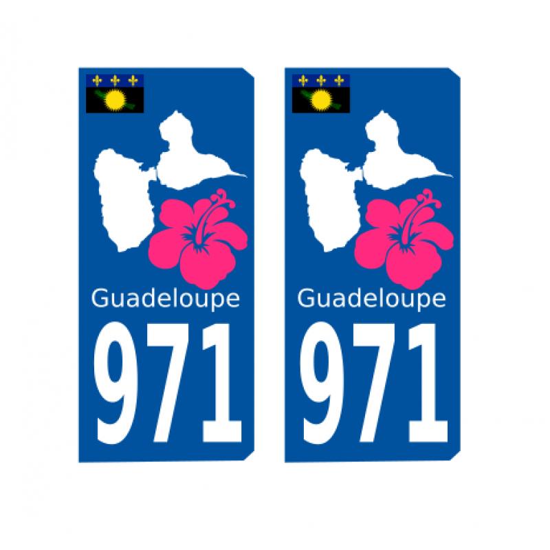 Kdomania Sticker Autocollant Guadeloupe Pour Voiture...
