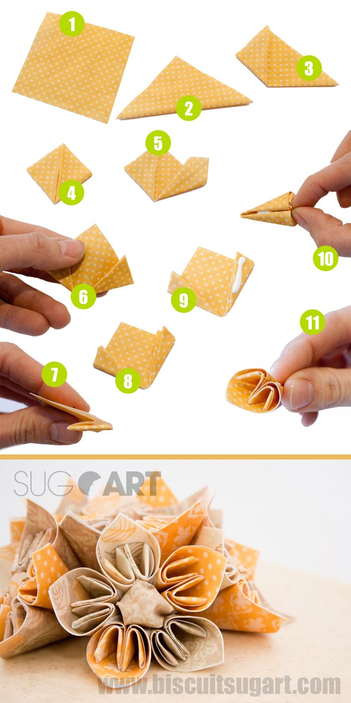 How To Make An Edible Origami Flower With Edible Paper Comment