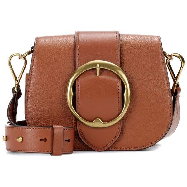 606884fb8a22 Polo Ralph Lauren Lennox Leather Shoulder Bag ( 475) ❤ liked on Polyvore  featuring bags