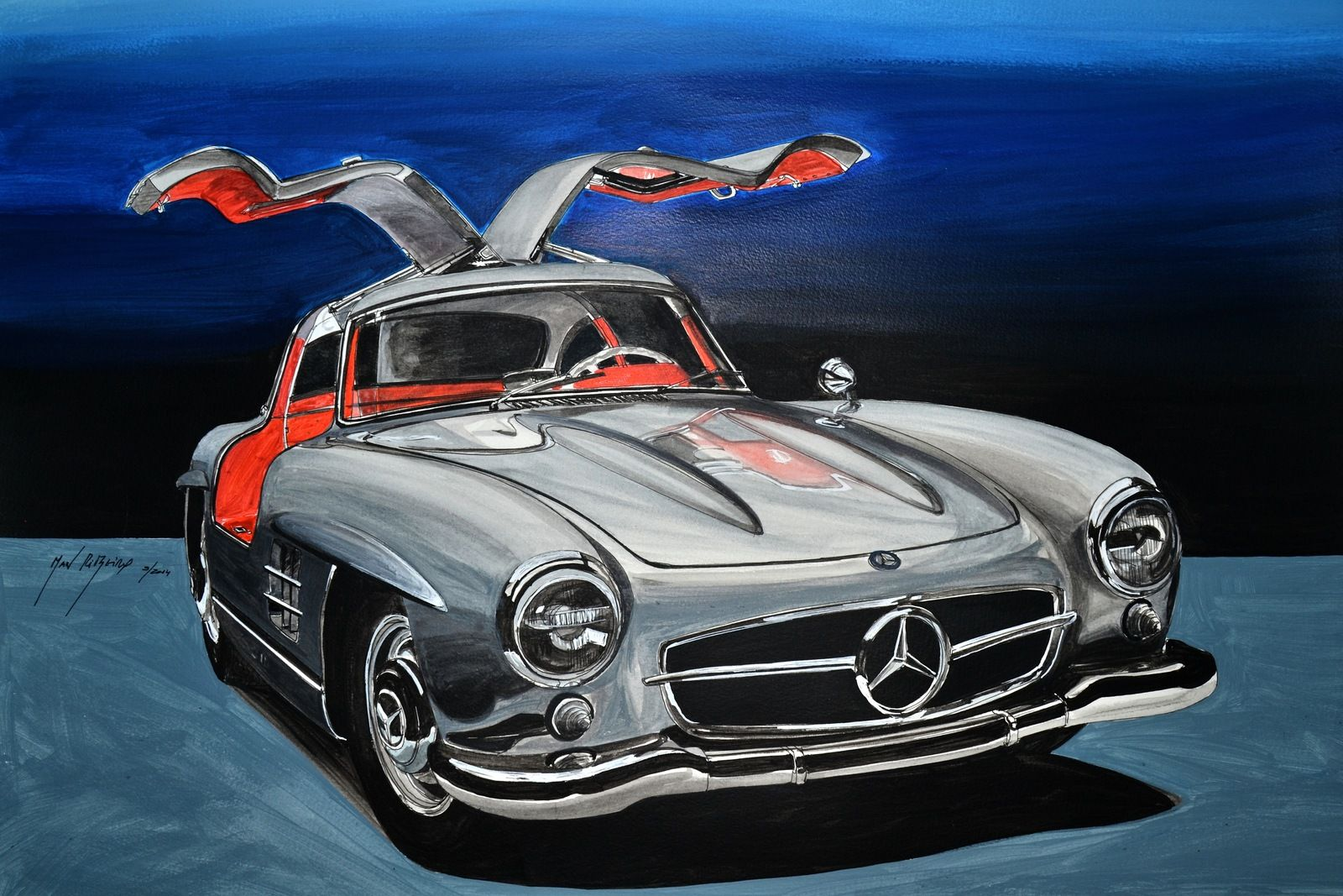 Mercedes Sl Man Ribeiro Artwork Car Ilustrations By Man