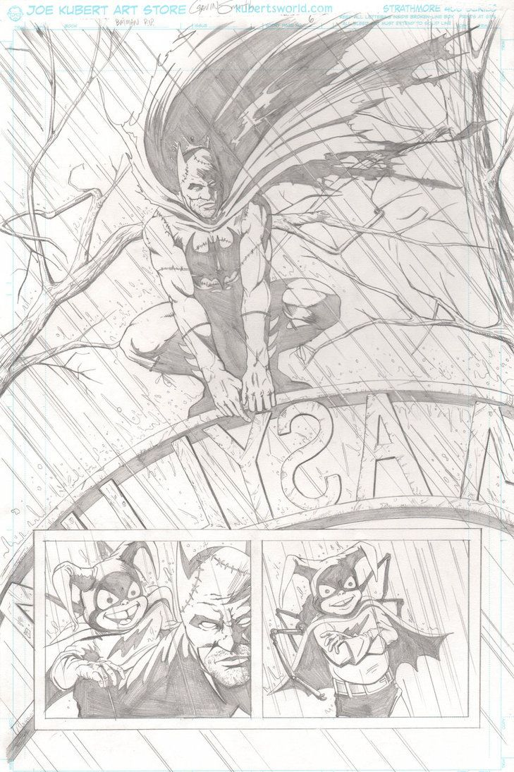 Batman RIP page 1 by Gavin Smith