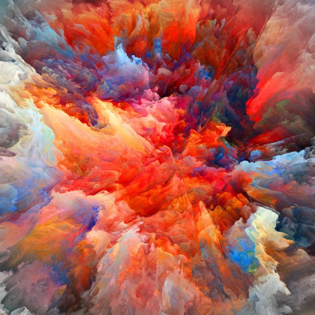 Colorful Iphone Wallpaper: Explosion Of Colors #iPad #Wallpaper