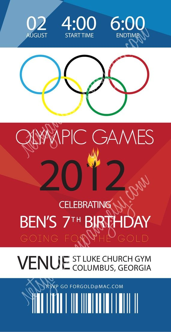 Olympic Themed Party Invite Google Search Olympic Theme