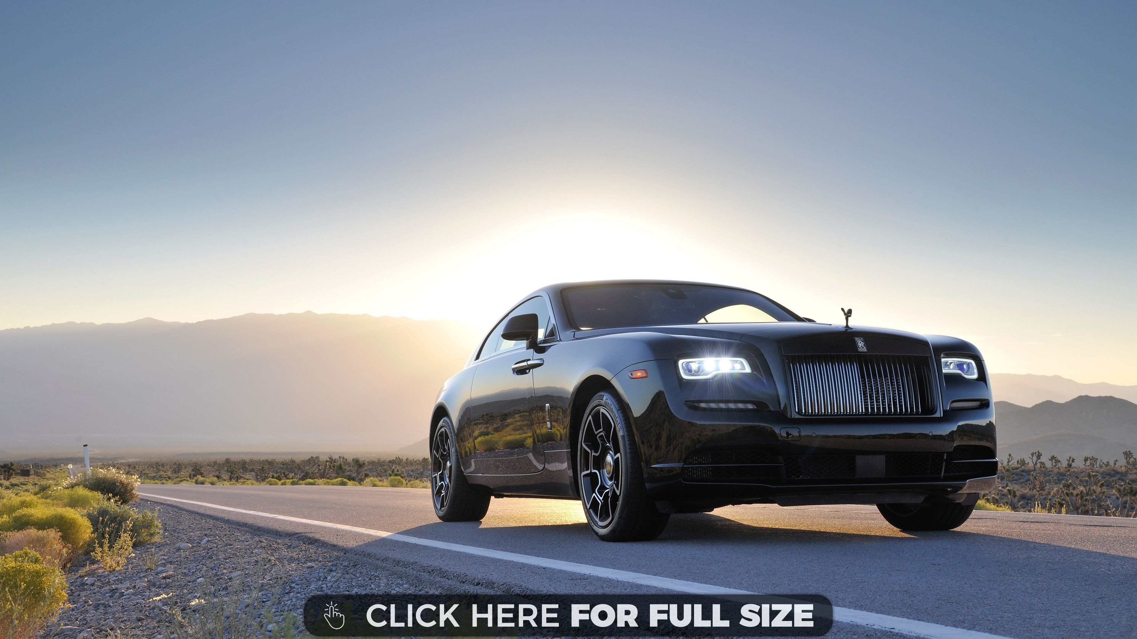 Rolls Royce Wraith Black Badge 4K Desktop Wallpapers