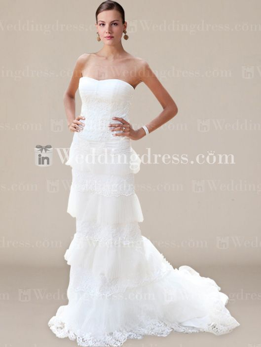 Strapless Trumpet/Mermaid Bridal Gown with Beaded Lace BC675
