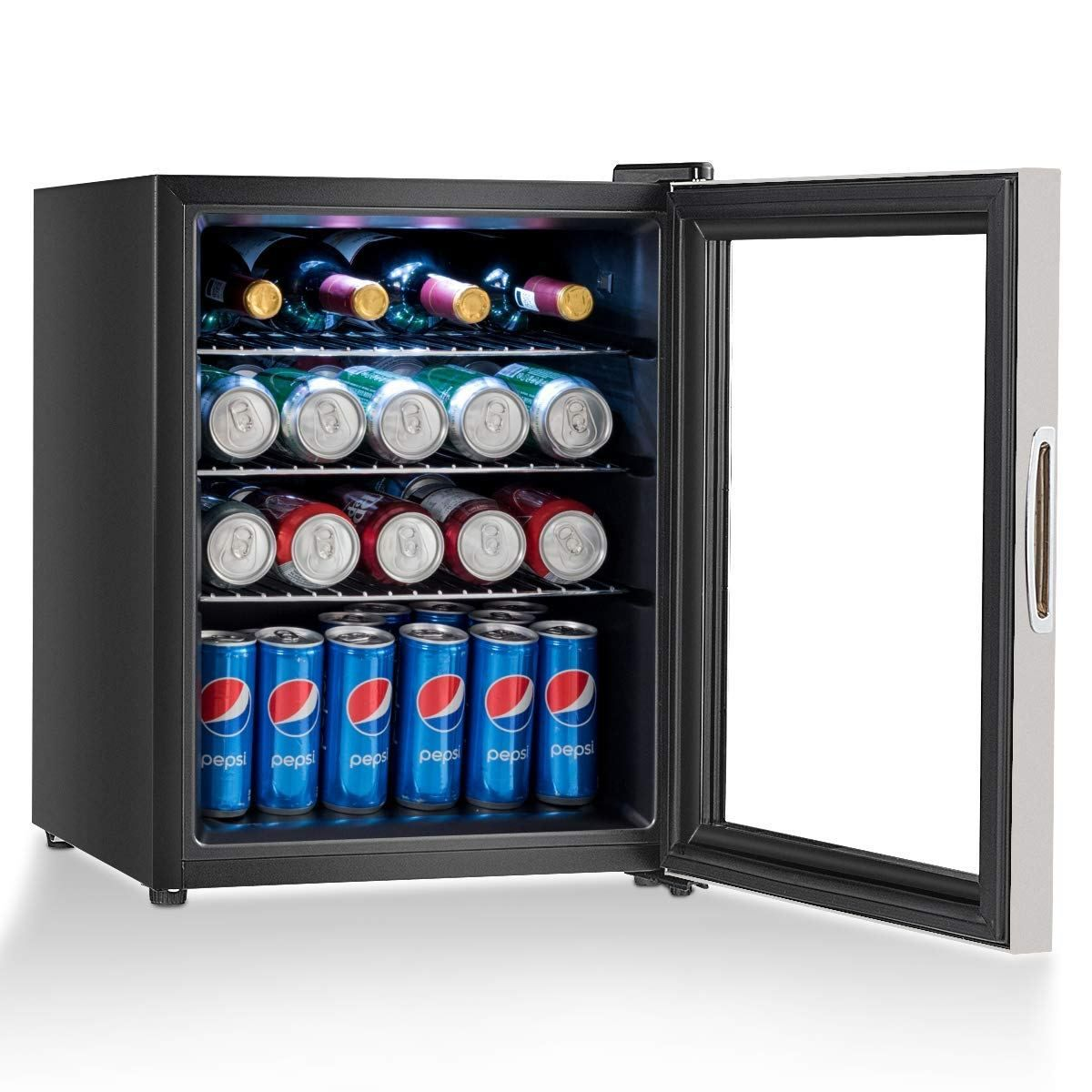 Daily Buy Tips Beverage Refrigerator Glass Door Mini Fridge