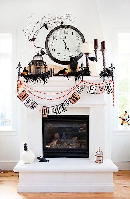 Mantel Decorations Halloween Mantel Decorating Inspiration