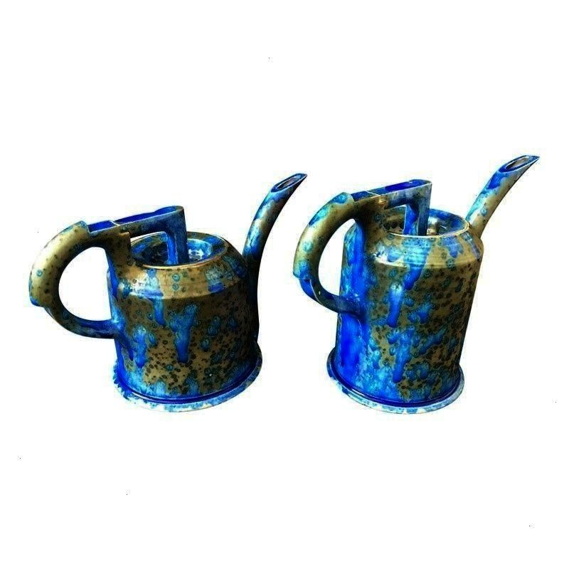 Anne Hirondelle Ceramic Art Watering Pots  a Pair 1990s Shabby Chic Anne Hirondelle Ceramic Art Watering Pots  a Pair 1990s Shabby Chic Anne Hirondelle Ceramic Art Wateri...