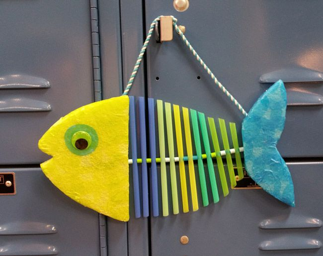 cute fish made from straws handsoncraftsforkids