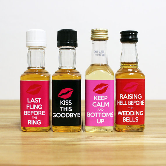 Custom Liquor Mini Bottle Favors Personalized Labels Bachelorette ...