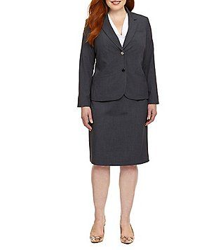 7f0a8b0fe7eb4 Calvin Klein Plus 2-Button Jacket & Pencil Skirt   Plus size ...