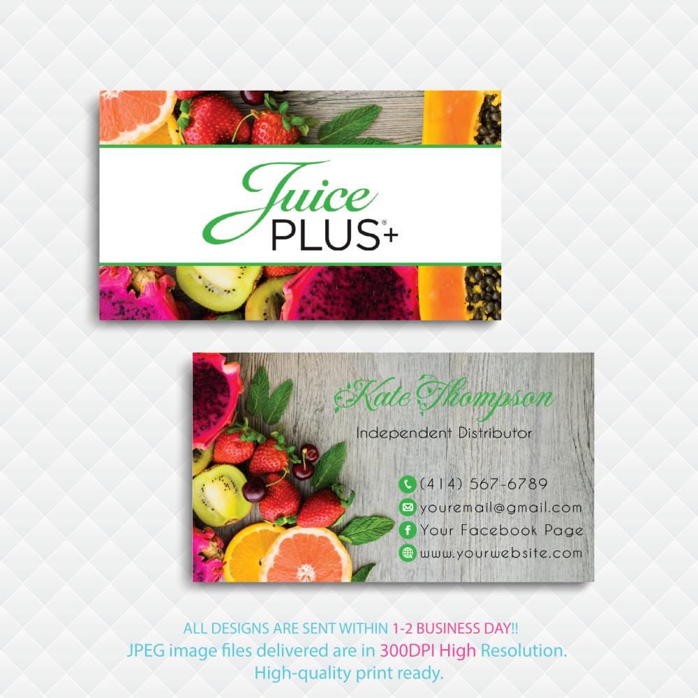 Juice Plus Business Cards Personalized Juice Plus Business Cards Custom Juice Plus Cards Printable File Custom Business Card Jl02 Juice Plus Make Business Cards Fruit Shop