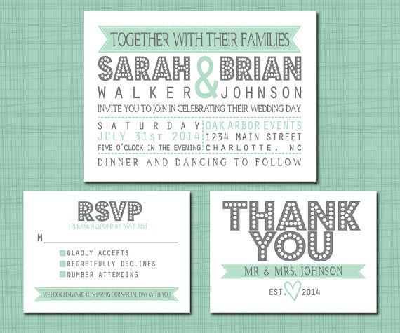 printable wedding suite invitation rsvp thank you by simplybrenna love it - Wedding Invitations Rsvp